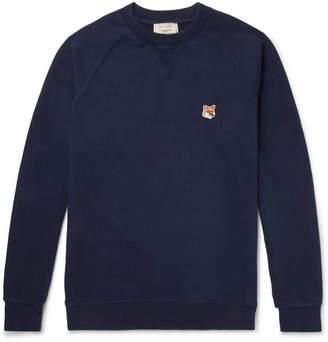 MAISON KITSUNÉ Appliquéd Loopback Cotton-Jersey Sweatshirt