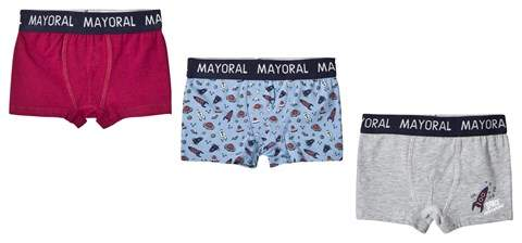 Red Blue and Grey Boxers Set