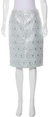 Michael Kors Brocade Knee-Length Skirt w/ Tags