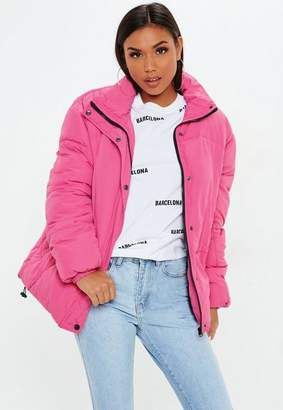 Missguided Pink Ultimate Oversized Padded Jacket