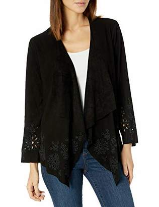3J Workshop by Johnny was Women's Suede Jacket with Embroidery and Eyelet Detail