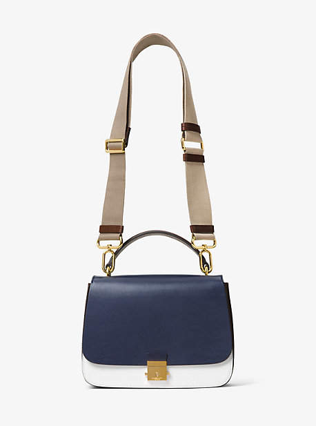MICHAEL Michael Kors Michael Kors Mia French Calf Leather Shoulder Satchel