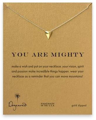 Dogeared Womens You Are Mighty Pyramid Necklace, Gold Dipped
