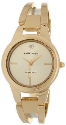 5387987186a0 Anne Klein Women s Polished Gold Bangle Watch