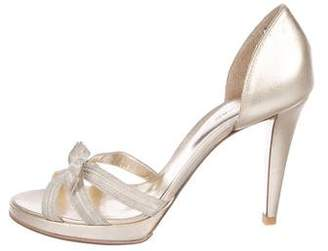Sergio Rossi Peep-Toe Bow Sandals