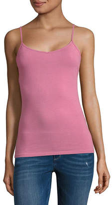 Arizona Womens Round Neck Camisole-Juniors