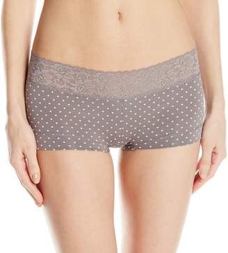 Maidenform Women's Dream Cotton with Lace Boyshort