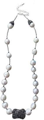 Farra Natural Edison Pearls & Rhinestones Short Necklace