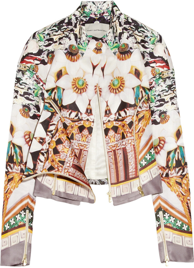 Mary Katrantzou Caramolengo printed silk-twill jacket