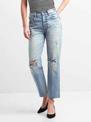 Gap Cone Denim® High Rise Wide-Straight Jeans with Destruction