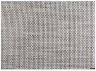 Chilewich Basketweave Place Mat, White/Silver