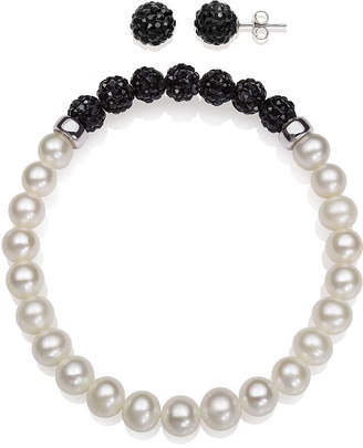Fine Jewelry Cultured Freshwater Pearl & Brilliance Bead Bracelet gpwN2yW5Hp