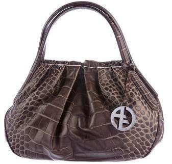 Giorgio Armani Embossed Leather Handle Bag