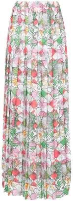... Ultràchic straw print pleated maxi skirt