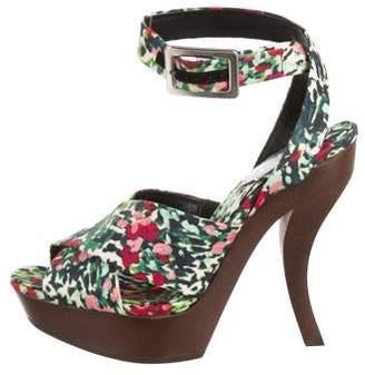 Roger Vivier Canvas Floral Sandals w/ Tags