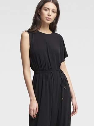 DKNY Asymmetrical Dress With Side Ruching