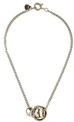 Giles & Brother Crystal Five Ring Necklace