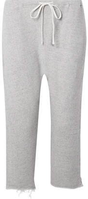 R 13 Field Frayed Cotton-terry Track Pants - Stone