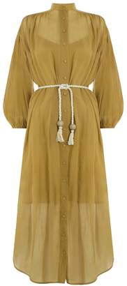 Zimmermann Wayfarer Crinkle Shirt Dress
