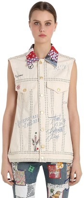 Tommy Hilfiger Tommy Patchwork Cotton Denim Vest