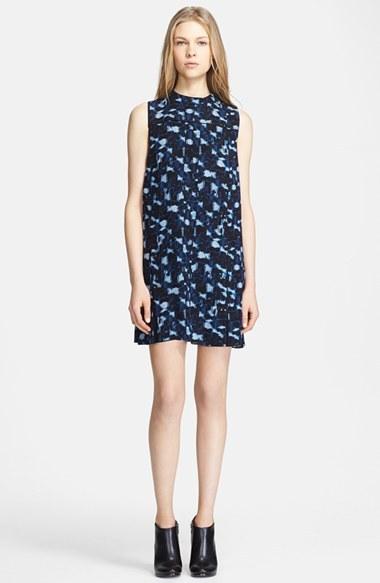 Proenza Schouler Cloud Print Silk Dress