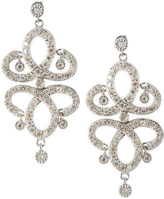 Sydney Evan 14k White Gold Large Diamond Chandelier Earrings