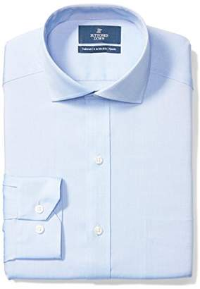 Buttoned Down Men's Tailored Fit Cutaway-Collar Solid Non-Iron Dress Shirt (Pocket)