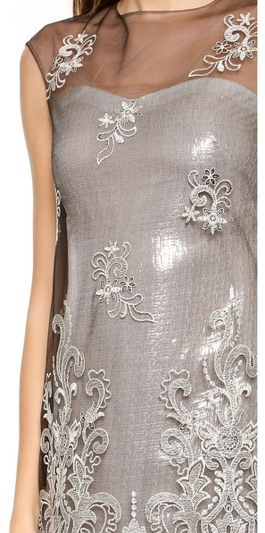 Notte by Marchesa Embroidered Shift Dress
