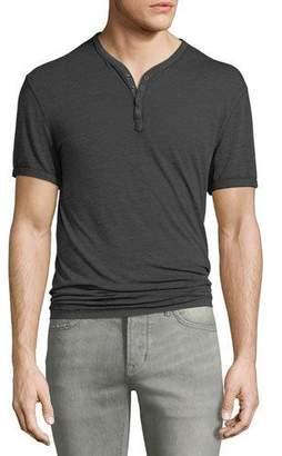 John Varvatos Men's Short-Sleeve Henley Shirt