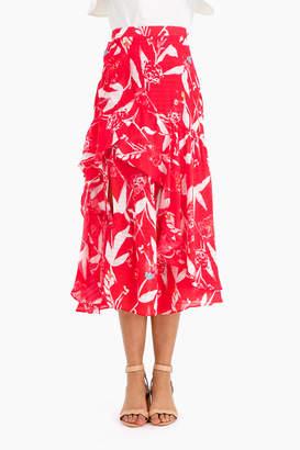 Tanya Taylor Parrot Tulip Sia Skirt