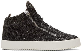 Giuseppe Zanotti Black Glitter May London High-Top Sneakers