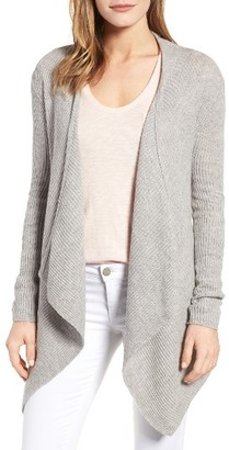 Women's Velvet By Graham & Spencer Ribbed Cashmere Open Front Cardigan $218 thestylecure.com