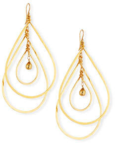 Devon Leigh Layered Teardrop Statement Earrings