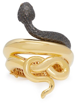 4ebba7874 Begum Khan - Snake Gold Plated Cuff - Womens - Gold
