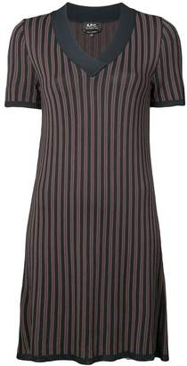 A.P.C. striped v-neck shift dress