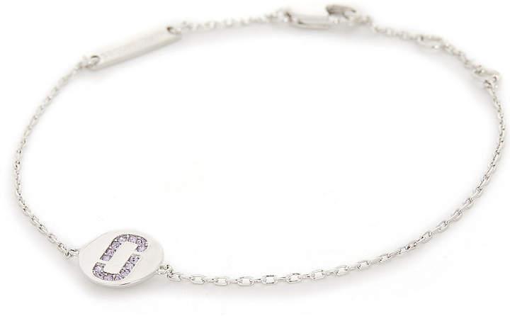 Double J pavé stone bracelet