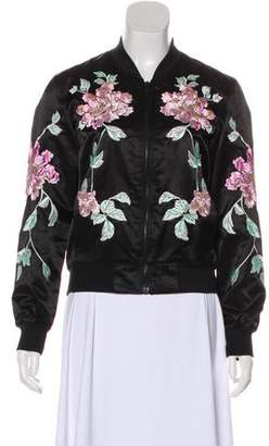 3x1 Embroidered Zip-Up Jacket