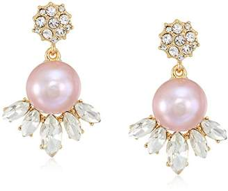 Carolee Petals and Pearls Collection Women's Cluster Freshwater Pearl Drop Earrings