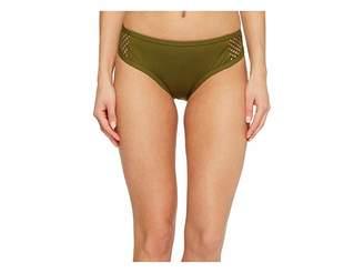 Jantzen Mesh Solids Boogie Retro Bikini Bottom Women's Swimwear