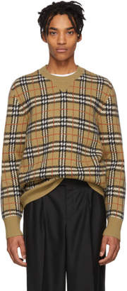 Burberry Beige Cashmere Banbury Sweater
