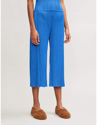 Pleats Please Issey Miyake Month wide-leg pleated trousers