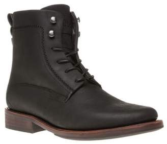 Sole New Mens Black Harden Leather Boots Lace Up