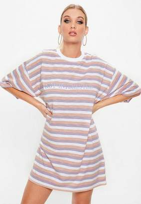 Missguided Lilac Oversized Not Interested Graphic T-Shirt
