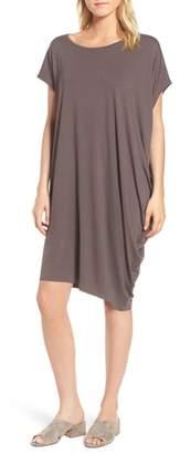 Eileen Fisher Asymmetrical Jersey Shift Dress