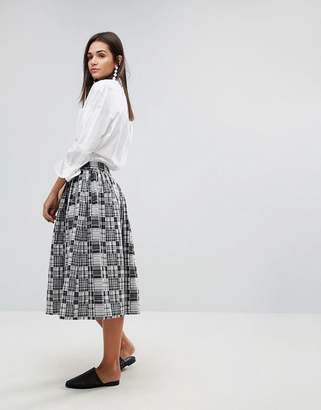 YMC Patchwork Midi Skirt