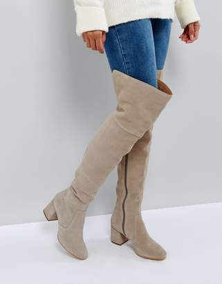 Office Krown Suede Over The Knee Boots