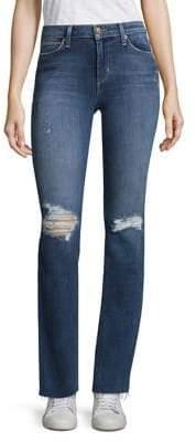 Joe's Jeans Petite Provocateur Distressed Mid-Rise Bootcut Raw Jeans