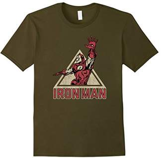 Marvel Iron Man Power Triangle Retro Vintage Graphic T-Shirt