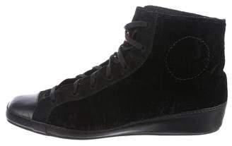 Y-3 Velvet High-Top Sneakers