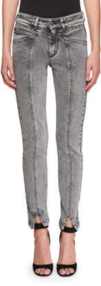Givenchy High-Waist Lightning Bolt Straight-Leg Jeans